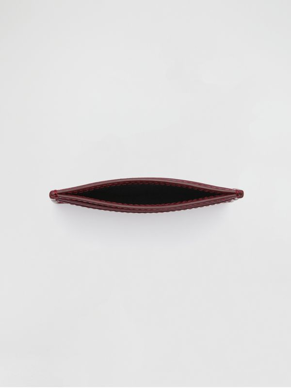 1983 Check and Leather Card Case in Antique Red | Burberry - cell image 3