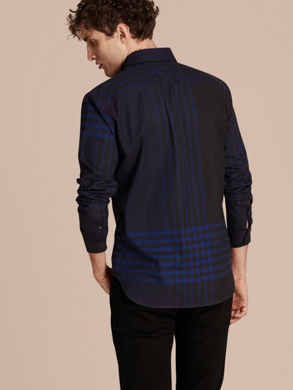 Bright navy Graphic Check Cotton Shirt Bright Navy - cell image 2