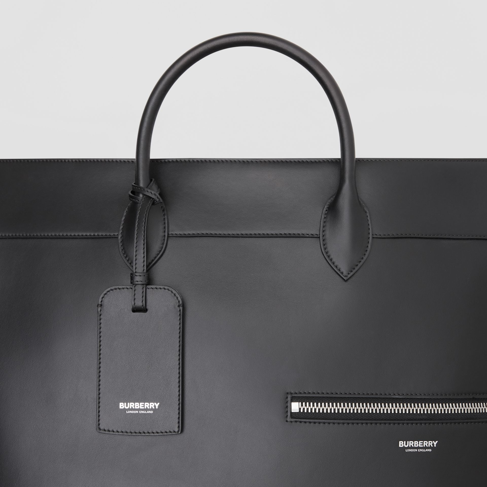 Leather Holdall in Black - Men | Burberry Australia - gallery image 1