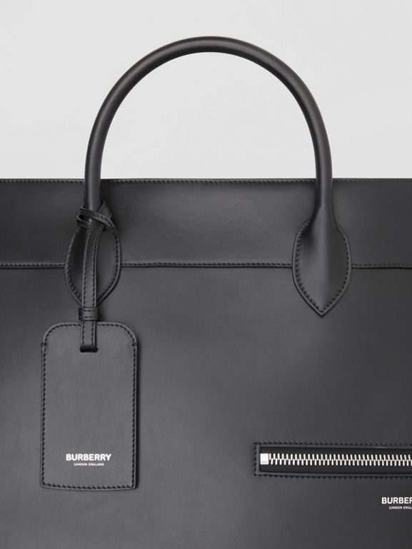 Leather Holdall in Black - Men | Burberry Australia - cell image 1