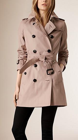 Trench coat leggero in gabardine di cotone