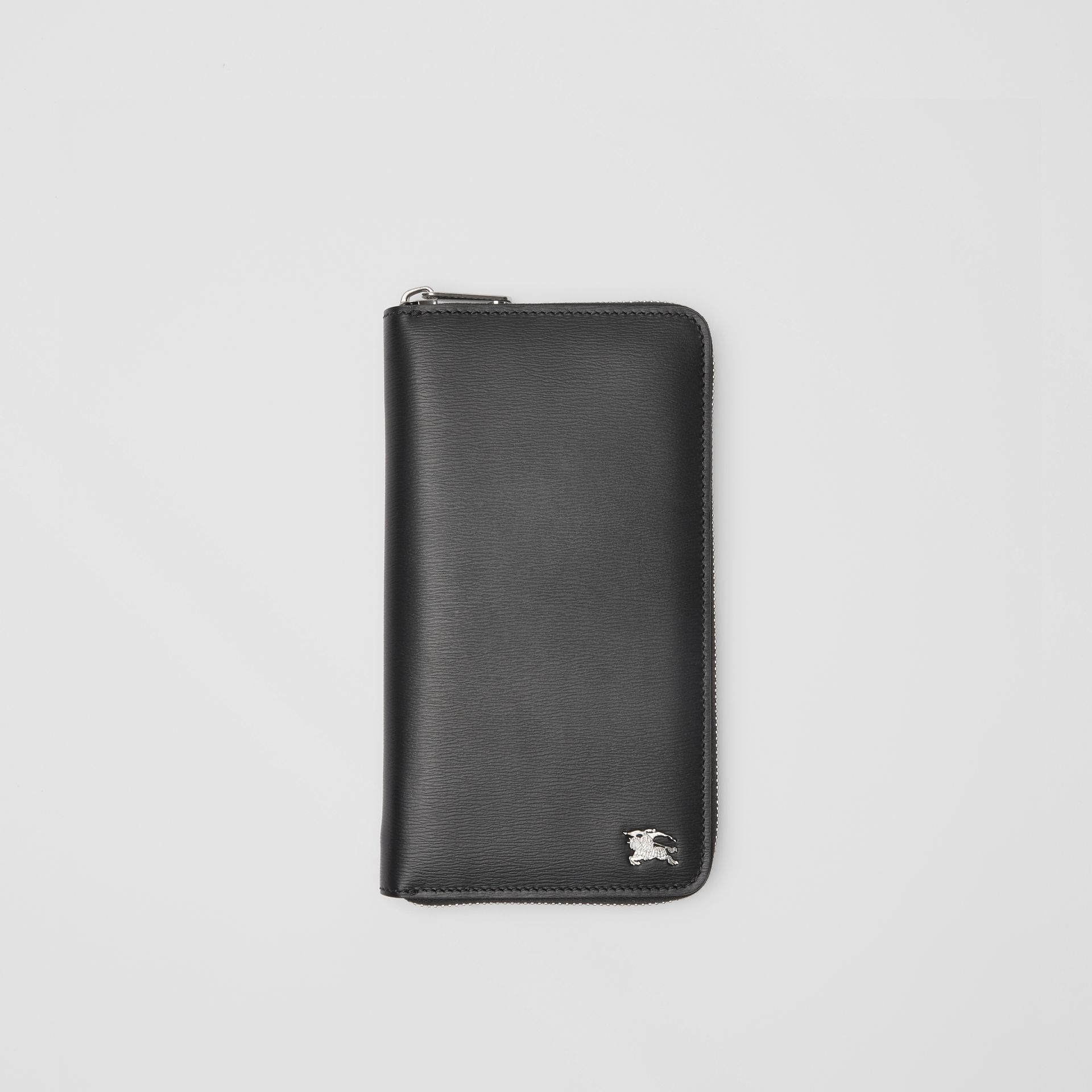 London Leather Ziparound Wallet in Black - Men | Burberry - gallery image 0