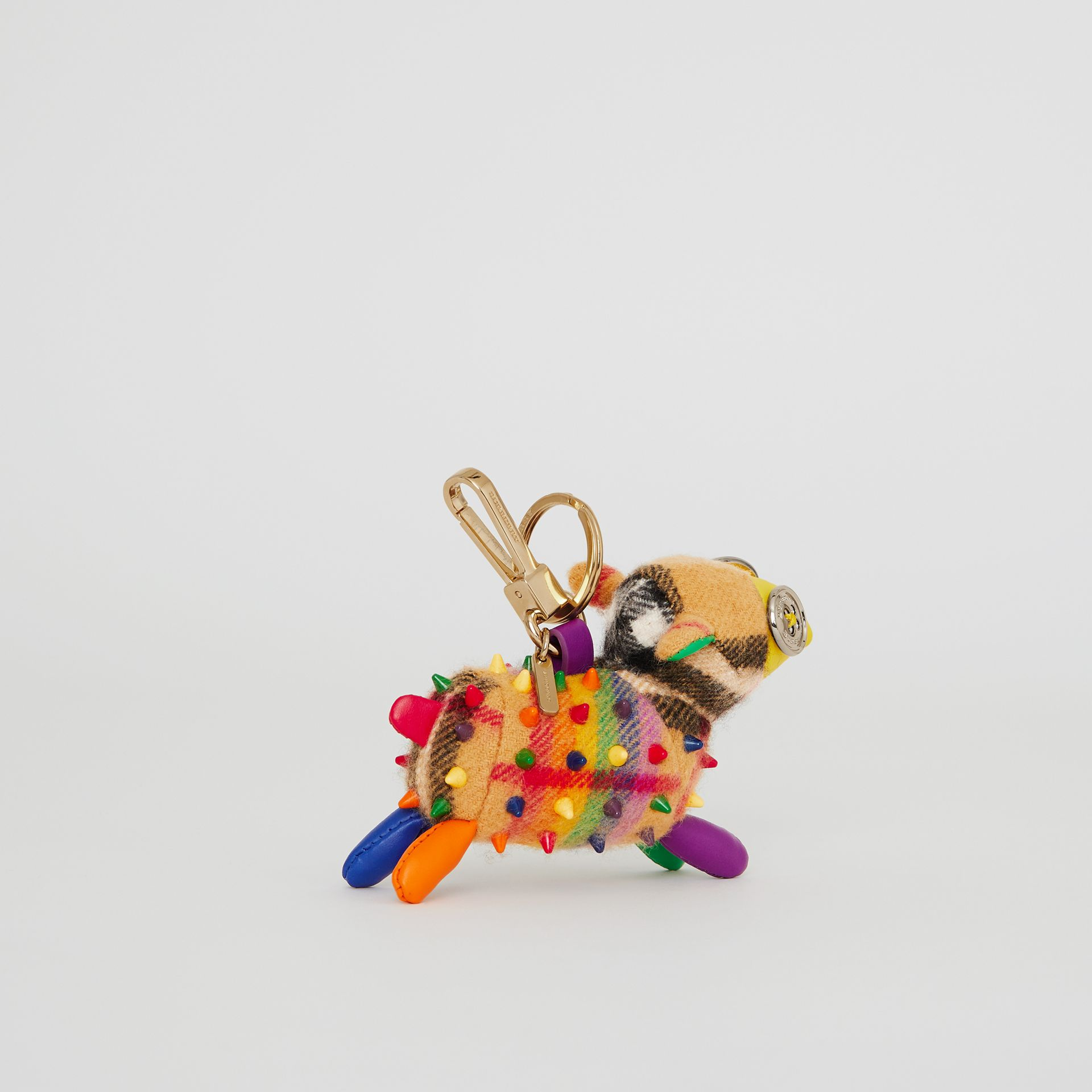 Wendy The Sheep Rainbow Vintage Check Charm in Multicolour/antique Yellow | Burberry Australia - gallery image 3