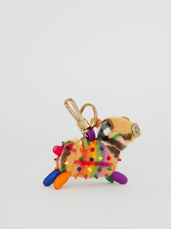 Wendy The Sheep Rainbow Vintage Check Charm in Multicolour/antique Yellow | Burberry Australia - cell image 3
