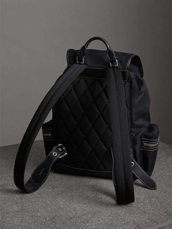 Zaino The Rucksack grande in tela di cotone (Nero) - Uomo | Burberry - cell image 3