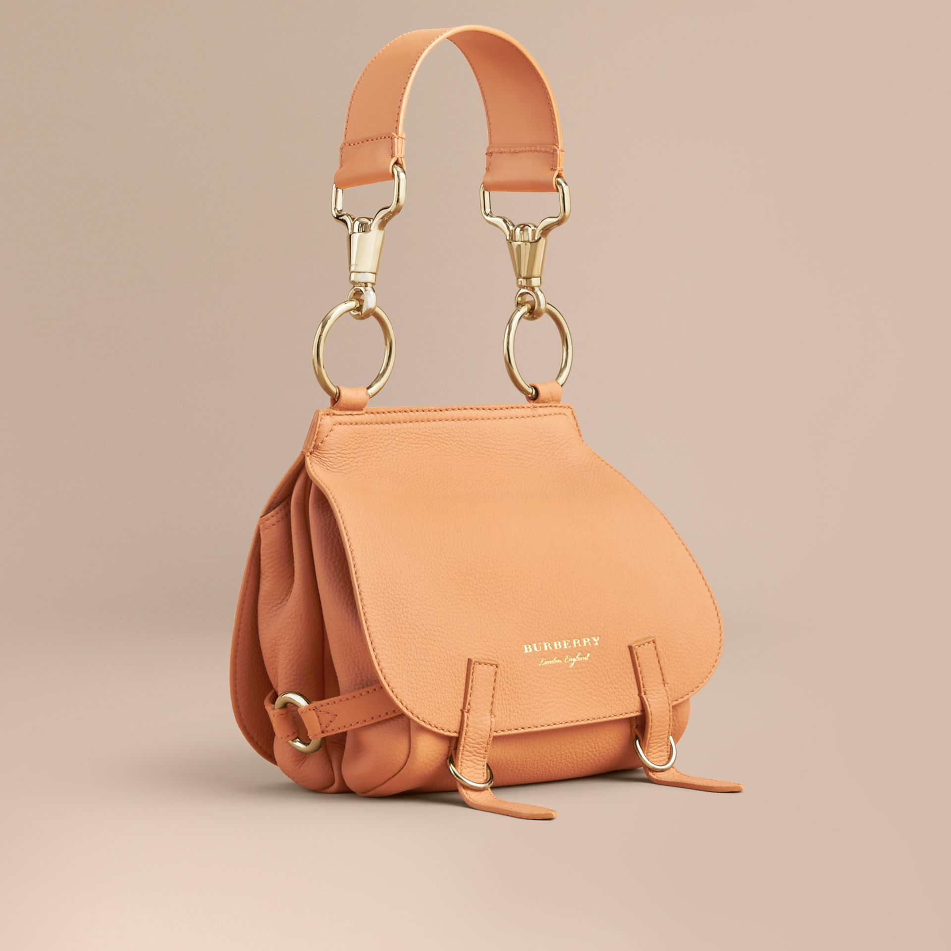 The Bridle Bag in Deerskin in Pale Clementine - Women | Burberry Canada - gallery image 1