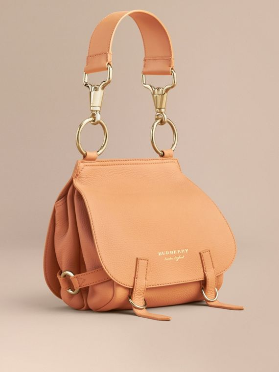 The Bridle Bag in Deerskin in Pale Clementine - Women | Burberry