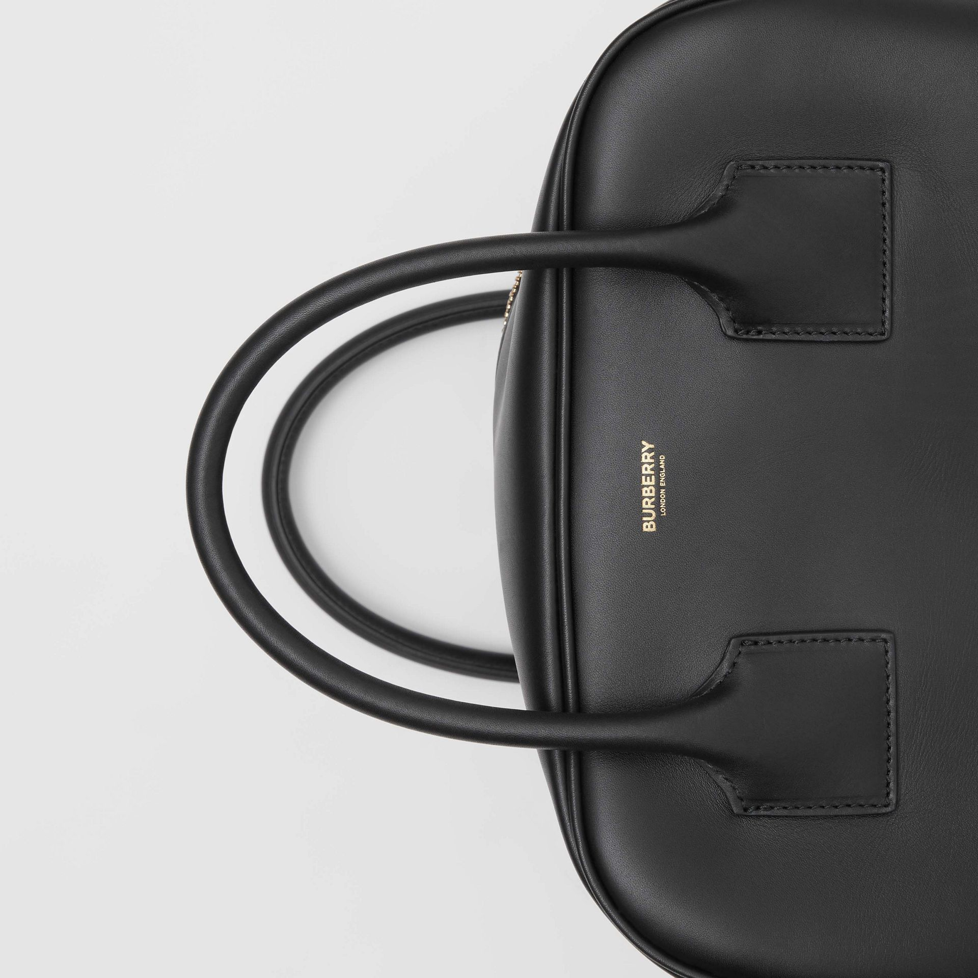 Medium Leather Cube Bag in Black - Women | Burberry United Kingdom - gallery image 1