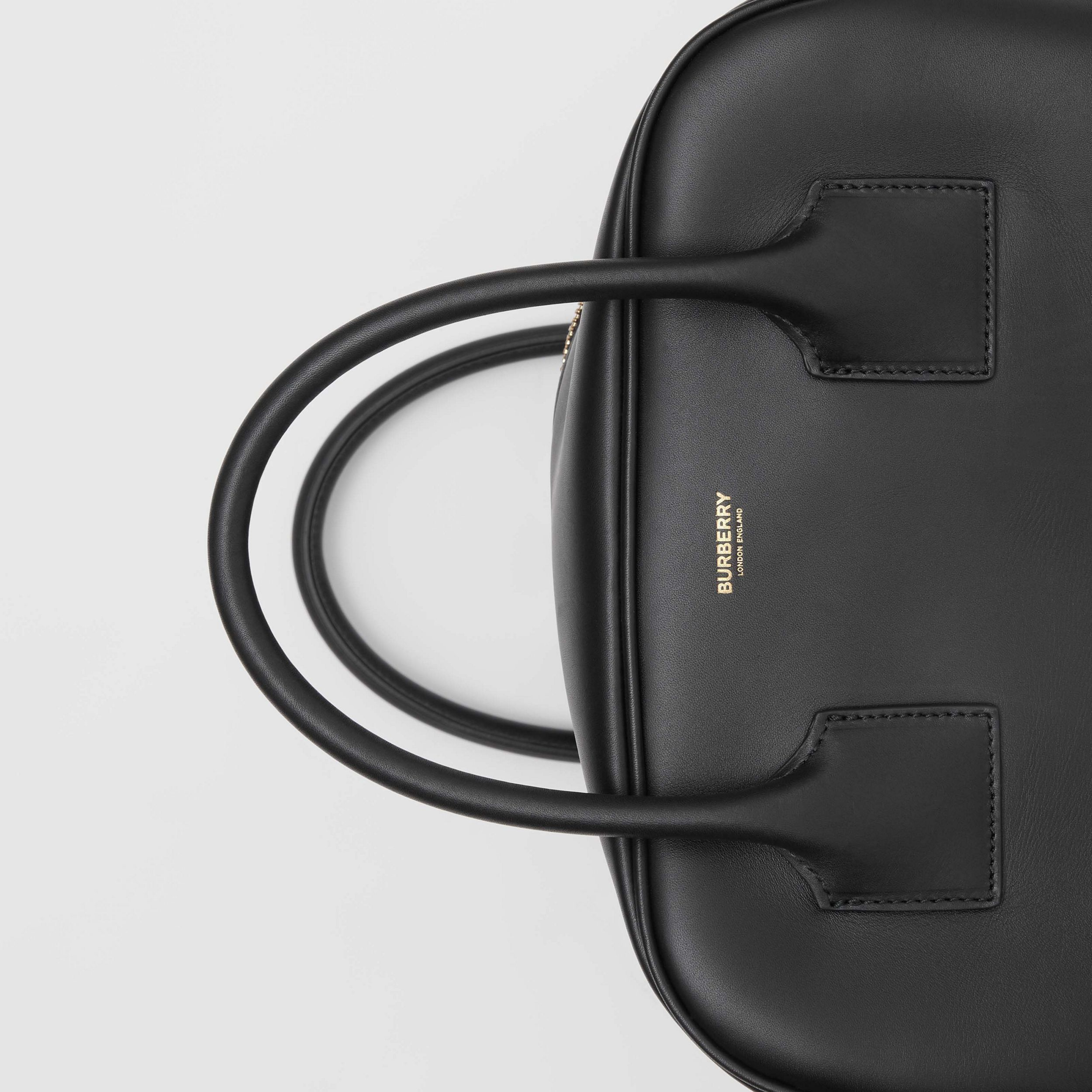 Medium Leather Cube Bag in Black - Women | Burberry United States - 2