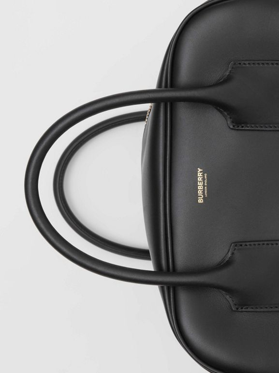 Medium Leather Cube Bag in Black - Women | Burberry United Kingdom - cell image 1