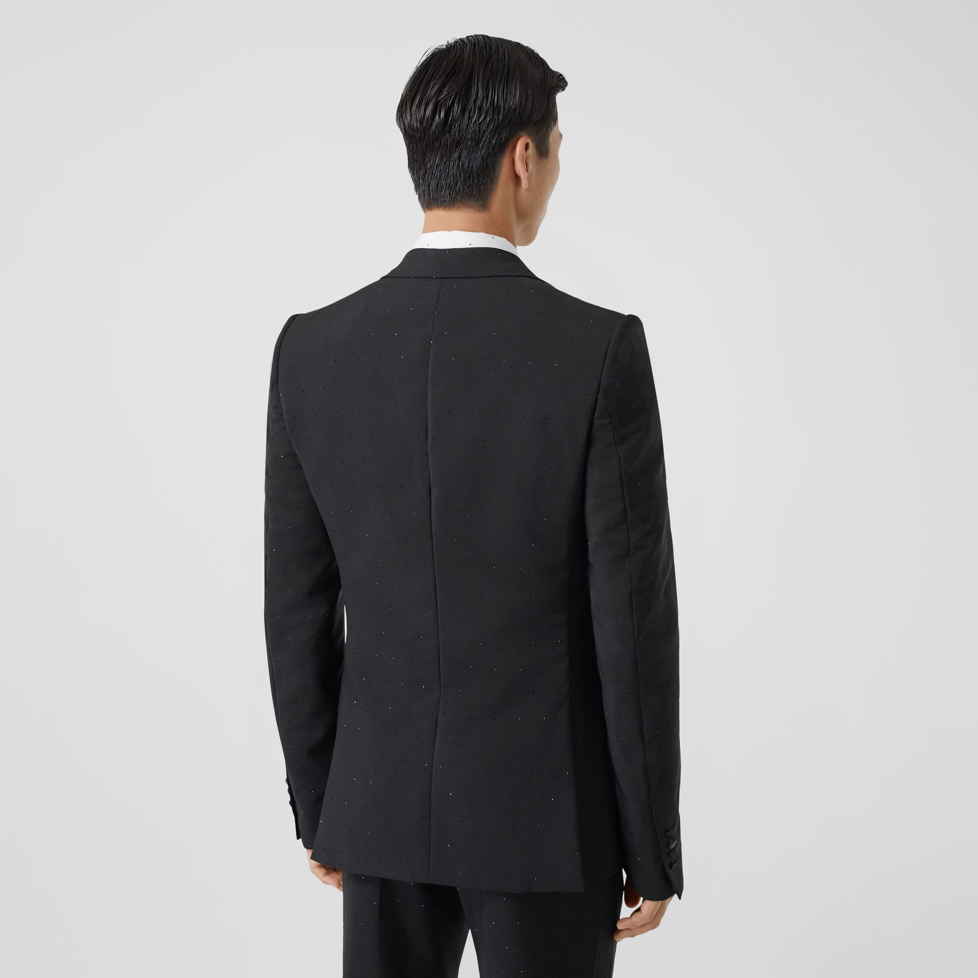 English Fit Embellished Wool Mohair Tailored Jacket in Black - Men | Burberry - gallery image 2