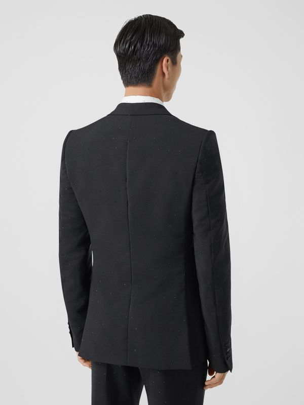 English Fit Embellished Wool Mohair Tailored Jacket in Black - Men | Burberry - cell image 2