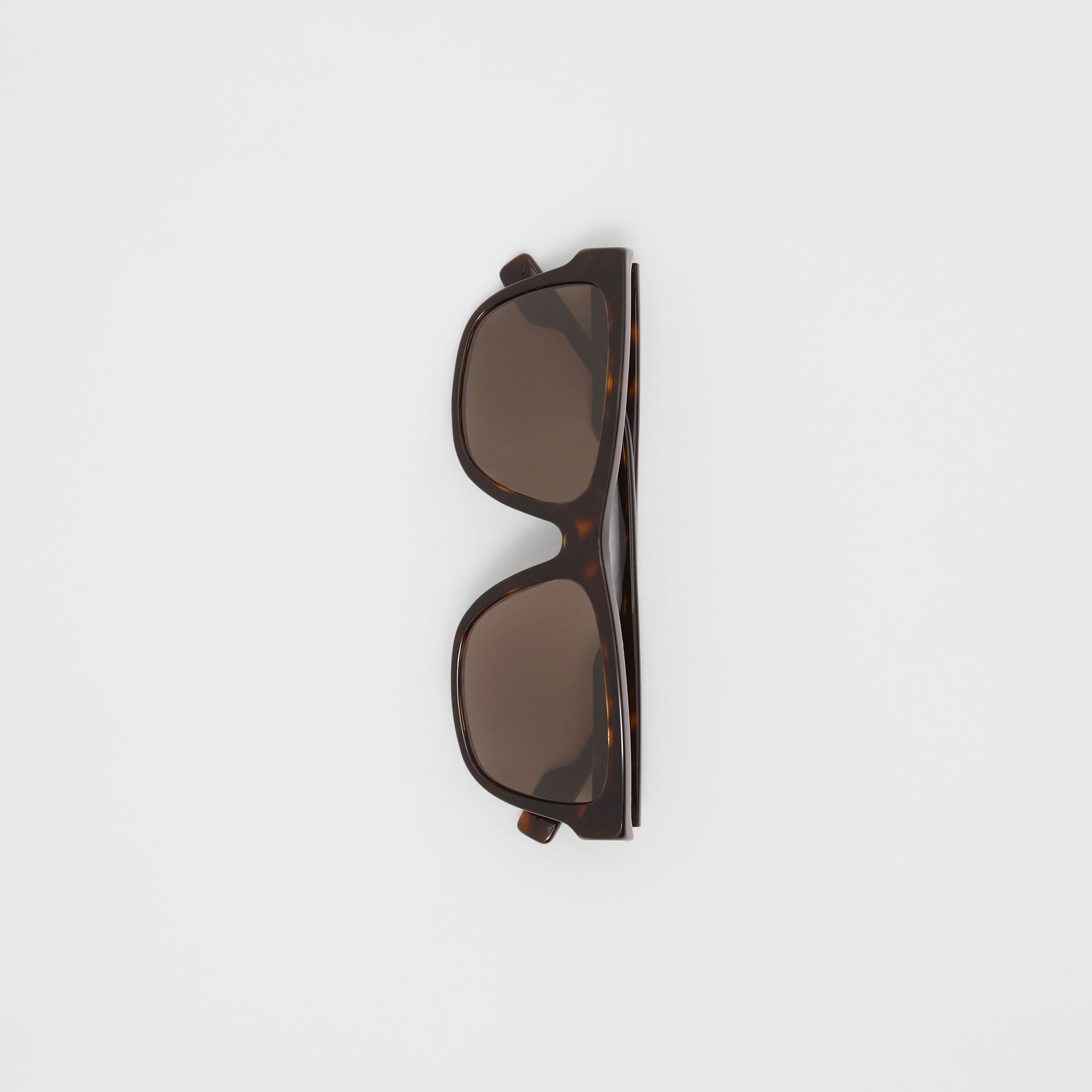 Square Frame Sunglasses in Tortoiseshell - Men | Burberry United Kingdom - gallery image 2