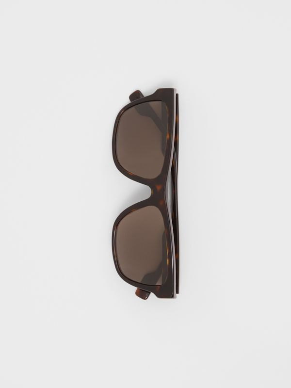 Square Frame Sunglasses in Tortoiseshell - Men | Burberry United Kingdom - cell image 2