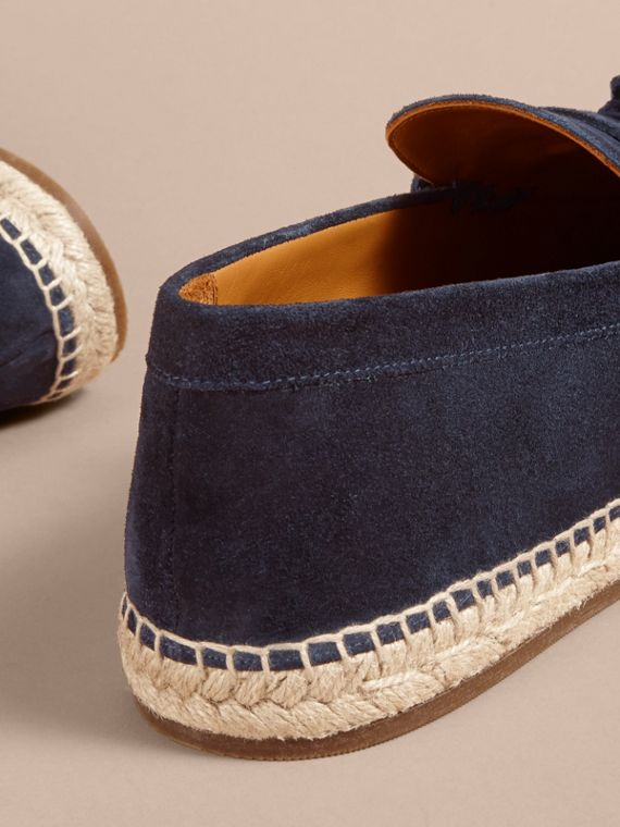 Tasselled Suede Espadrille Loafers Midnight Blue - cell image 3