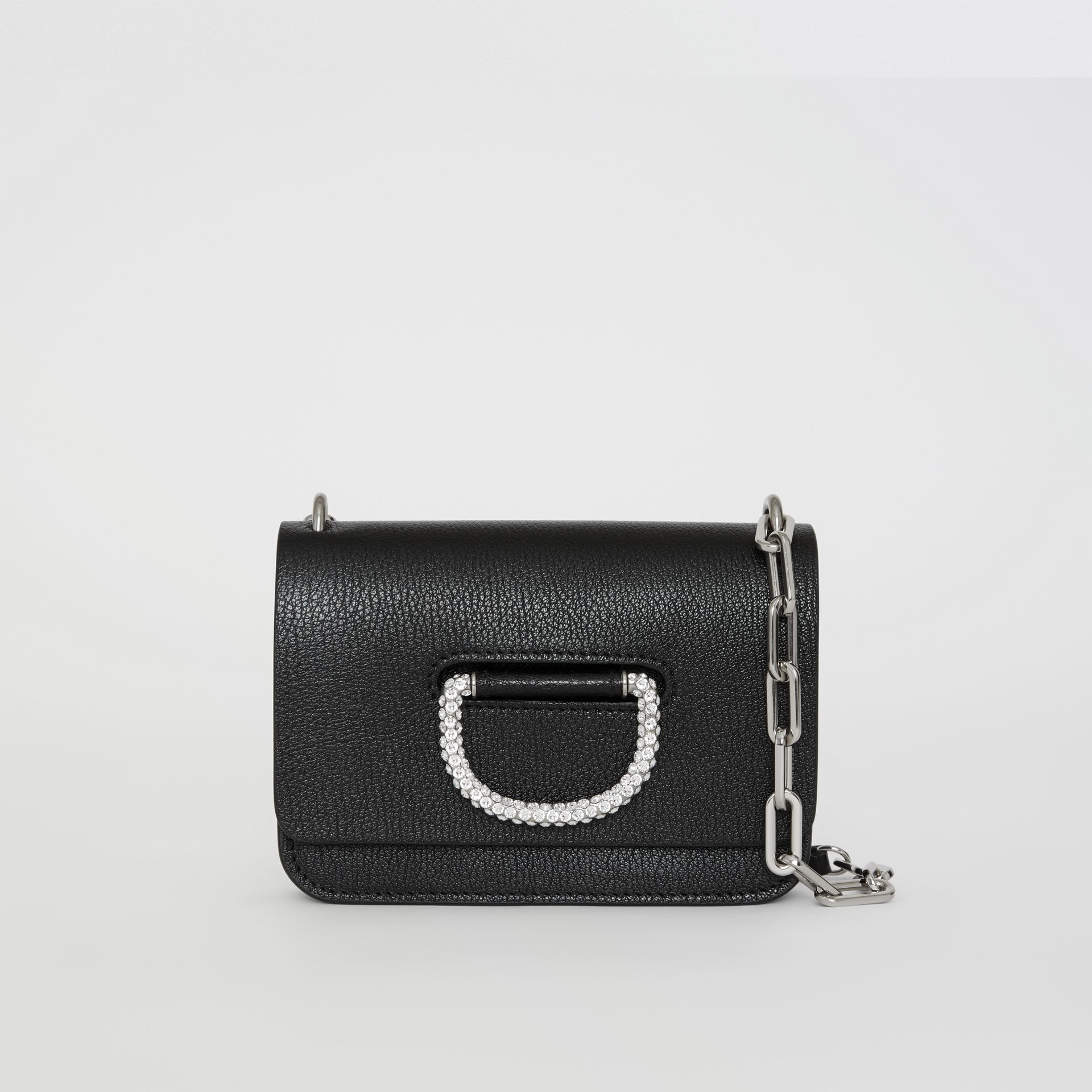 The Mini Leather Crystal D-ring Bag in Black - Women | Burberry - gallery image 0