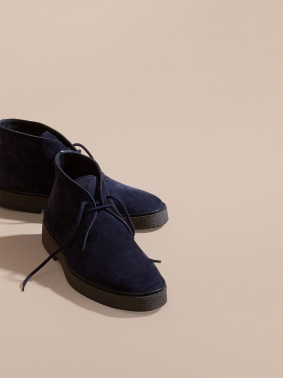 Navy Desert boot in pelle scamosciata con suola in para Navy - cell image 2