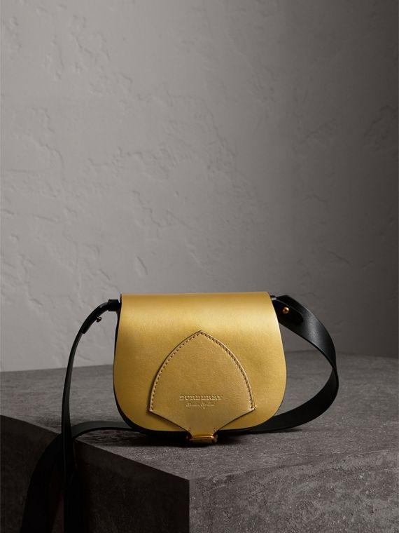 The Satchel in Metallic Leather in Gold