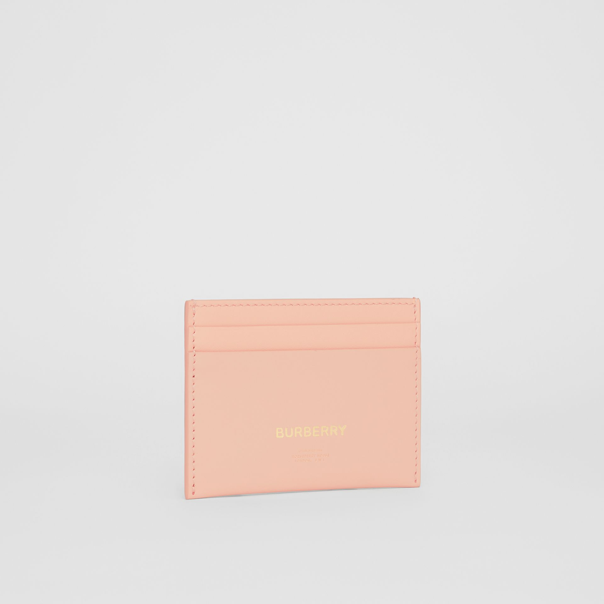 Horseferry Print Leather Card Case in Blush Pink | Burberry - gallery image 3