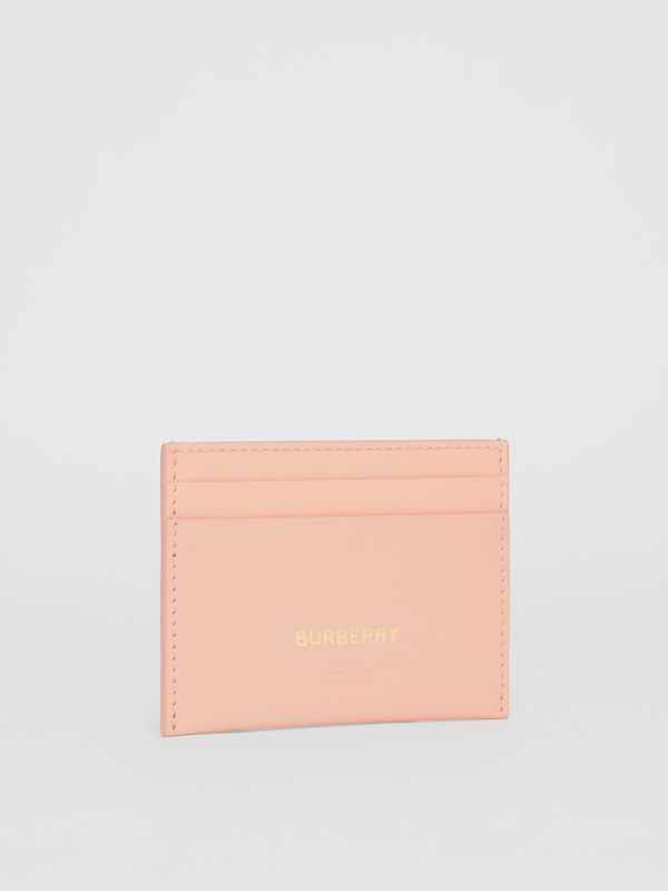 Horseferry Print Leather Card Case in Blush Pink | Burberry - cell image 3