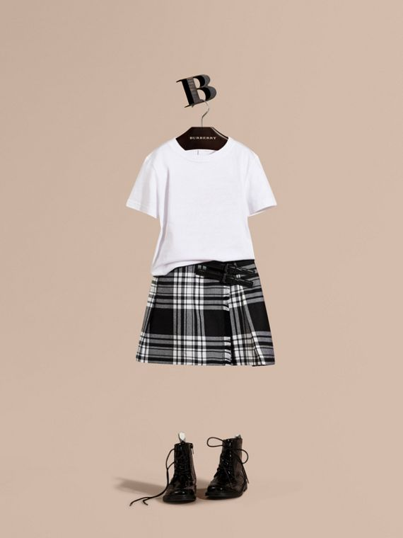 Kilt in lana con motivo check