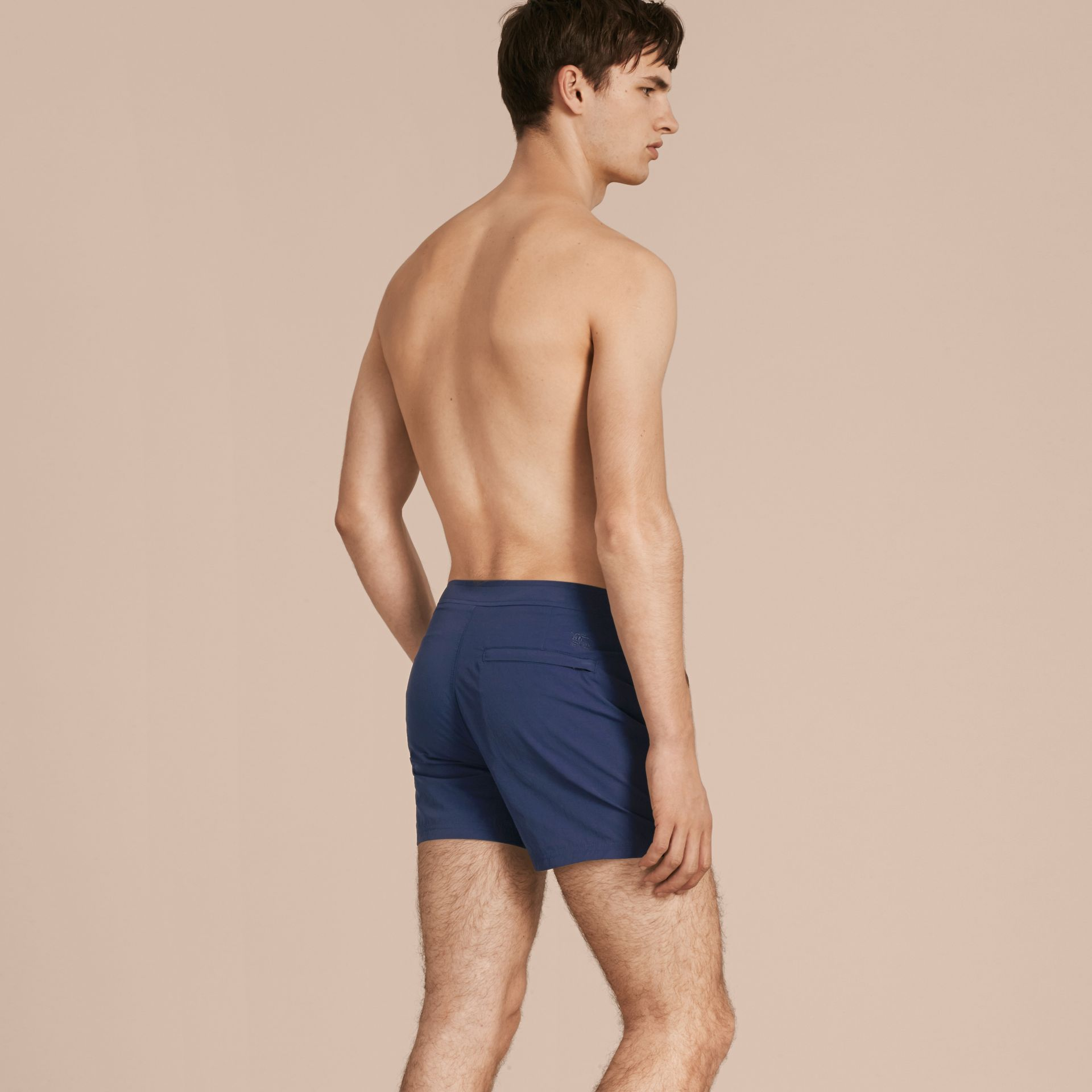 Tailored Swim Shorts in Bright Navy - Men | Burberry - gallery image 3