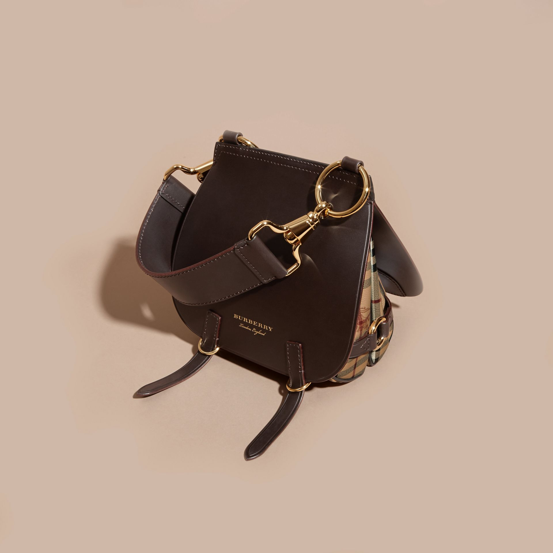 The Bridle Bag in Leather and Haymarket Check - gallery image 5
