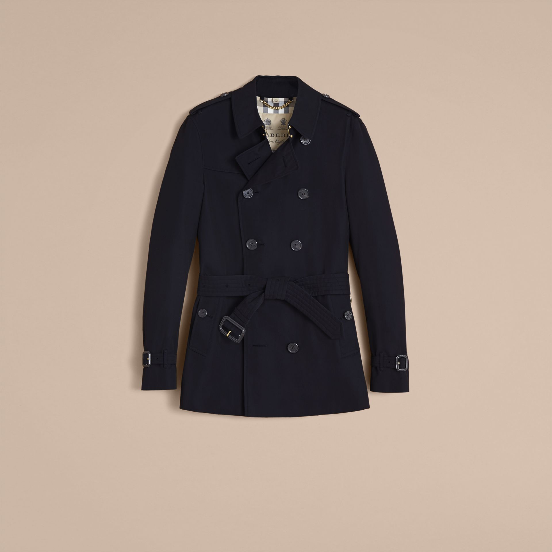 Navy The Chelsea – Short Heritage Trench Coat Navy - gallery image 5