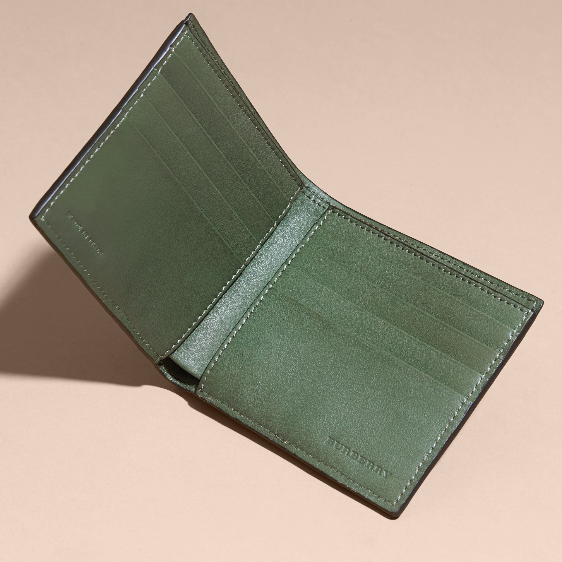Sage Alligator Folding Wallet - gallery image 5