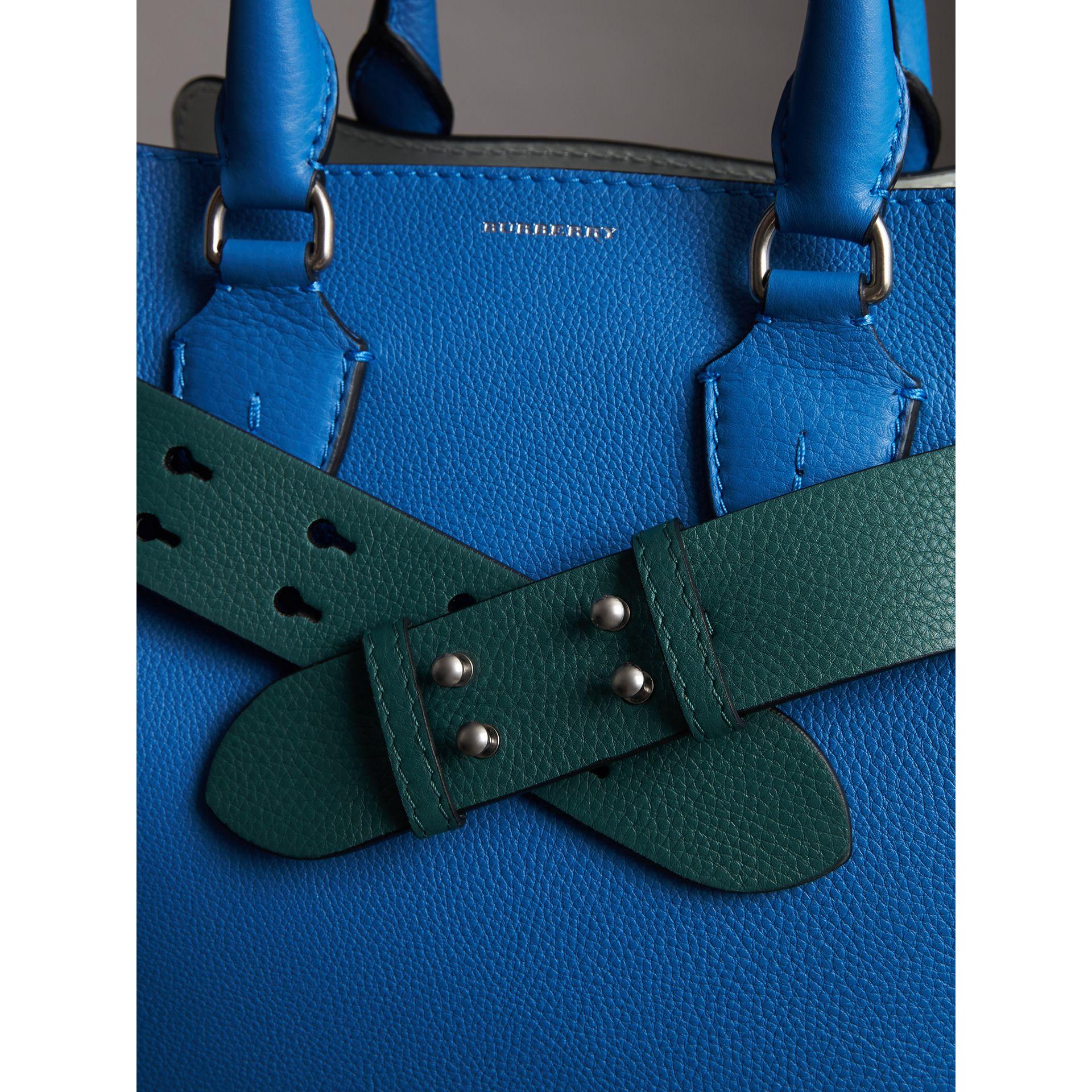 The Small Belt Bag Grainy Leather Belt in Sea Green - Women | Burberry - gallery image 3
