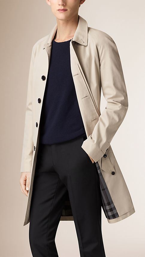 Trench Cotton Gabardine Car Coat - Image 1