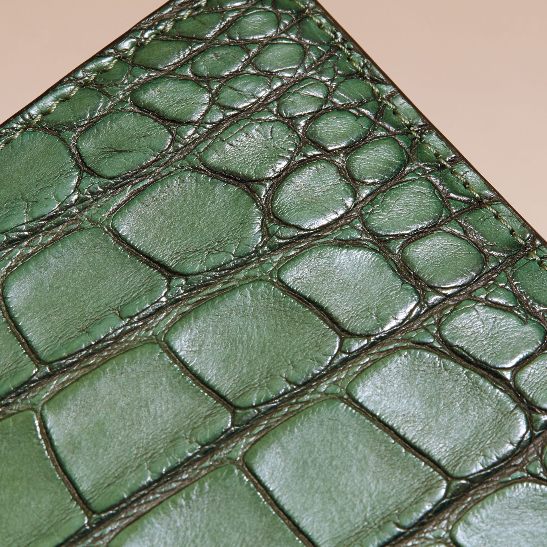 Sage Alligator Folding Wallet - gallery image 2