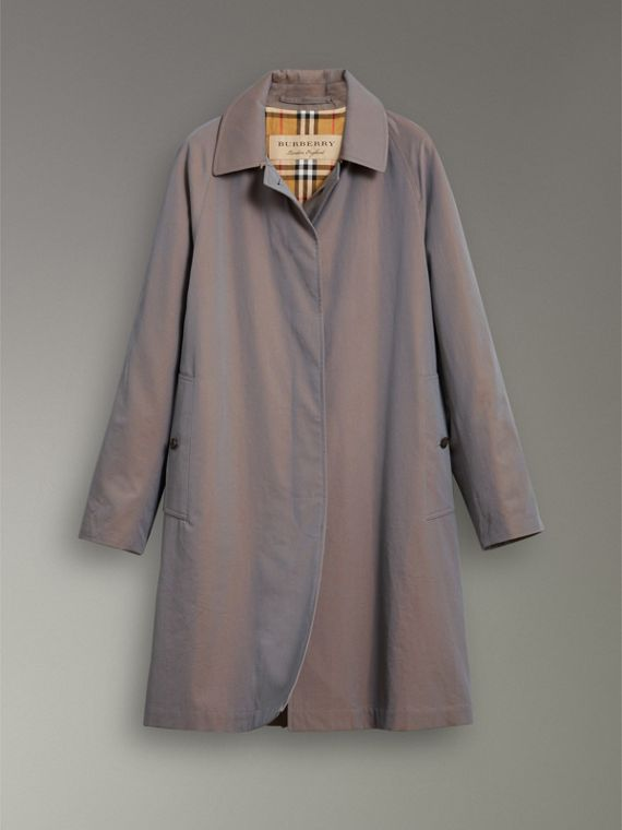 The Camden Car Coat in Lilac Grey - Women | Burberry - cell image 3