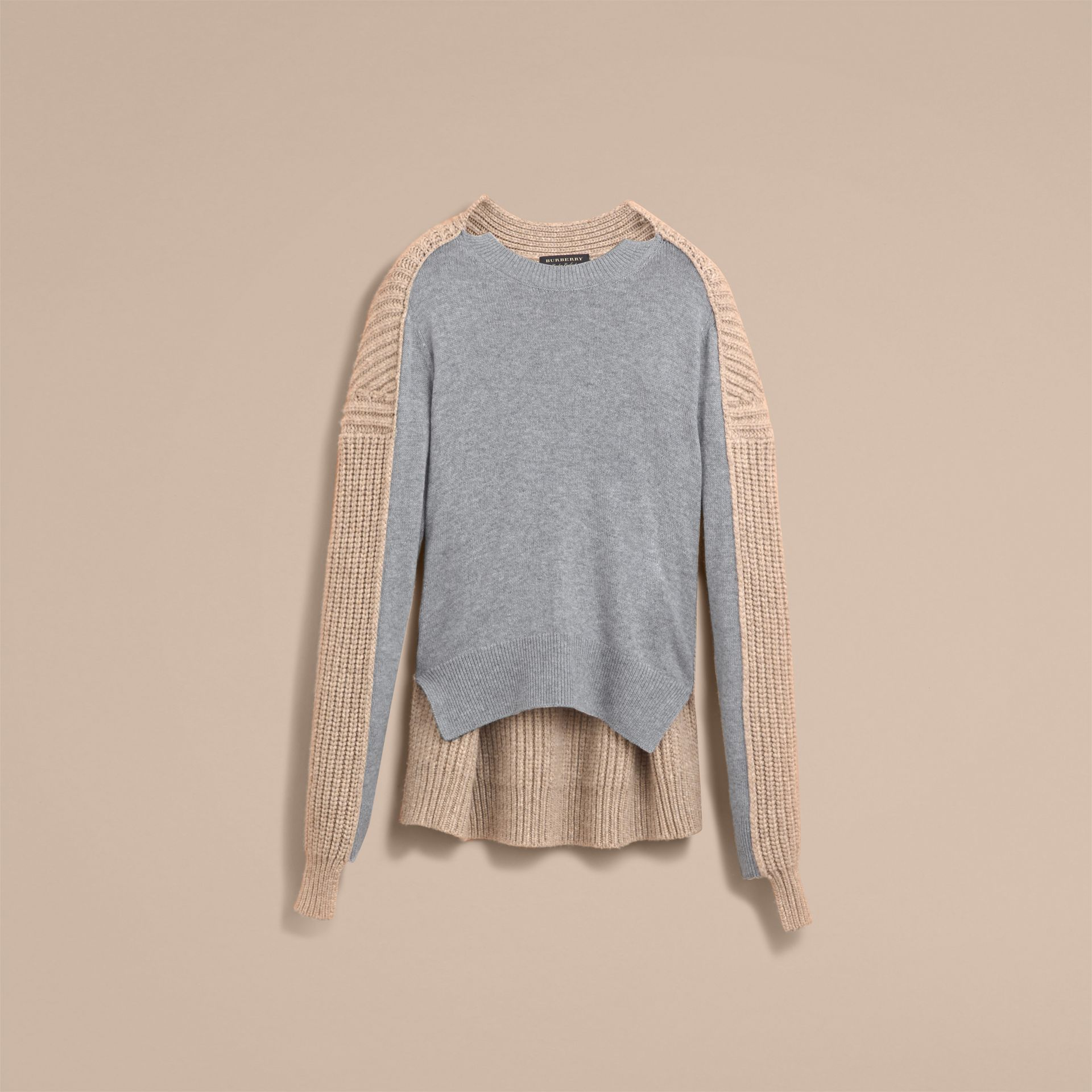 Panelled Cashmere Fisherman Sweater - Men | Burberry - gallery image 4