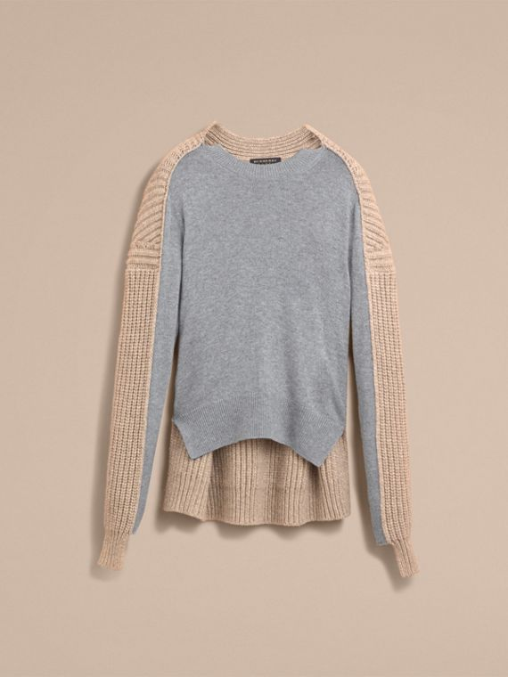 Panelled Cashmere Fisherman Sweater - Men | Burberry - cell image 3