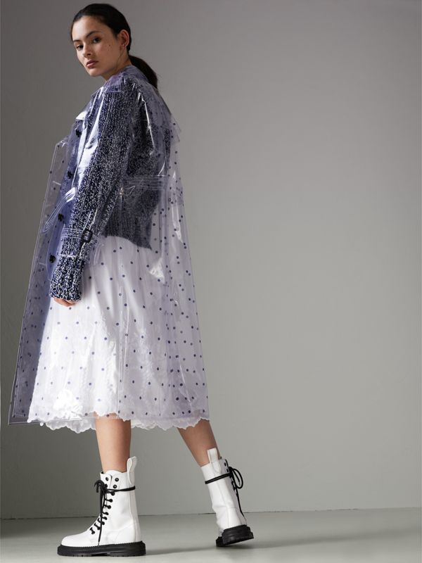 Polka-dot Plastic Trench Coat – Online Exclusive in Navy - Women | Burberry - cell image 2