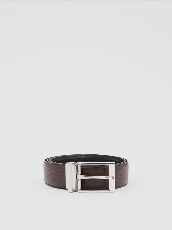 Reversible Grainy Leather Belt in Black/chocolate - Men   Burberry United States - cell image 2