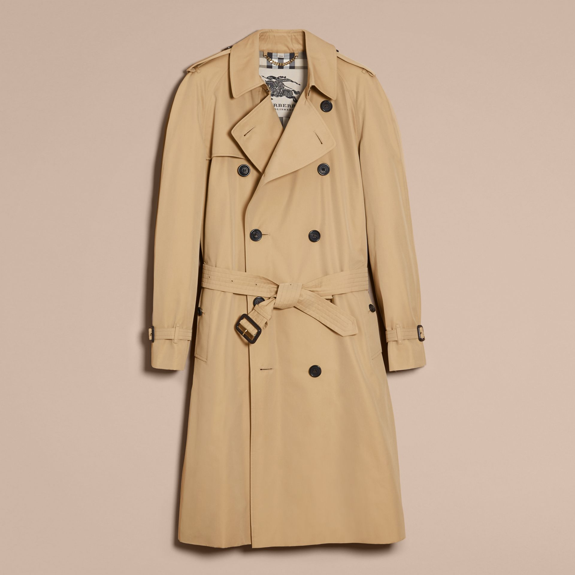Honey The Westminster – Long Heritage Trench Coat Honey - gallery image 4