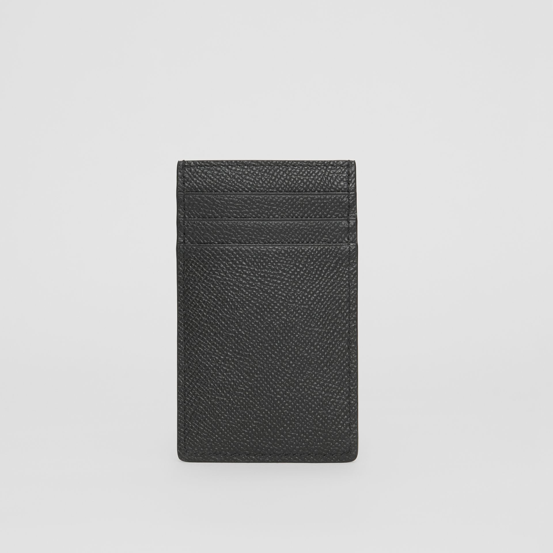 Grainy Leather Card Case in Black - Men | Burberry United Kingdom - gallery image 3