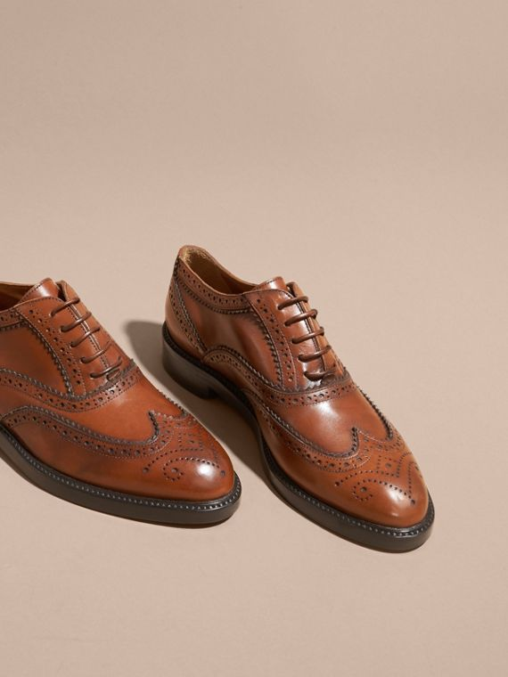 Bright camel Leather Wingtip Brogues Bright Camel - cell image 2