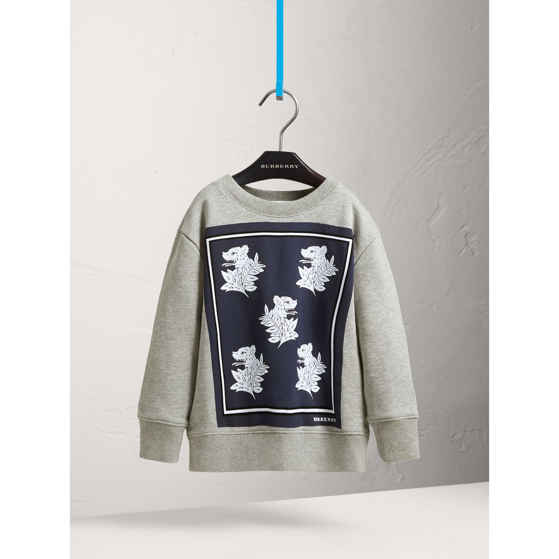Beasts Print Cotton Sweatshirt - Boy | Burberry - gallery image 3