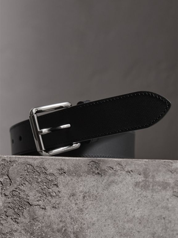 Trench Leather Belt in Black - Men | Burberry - cell image 1