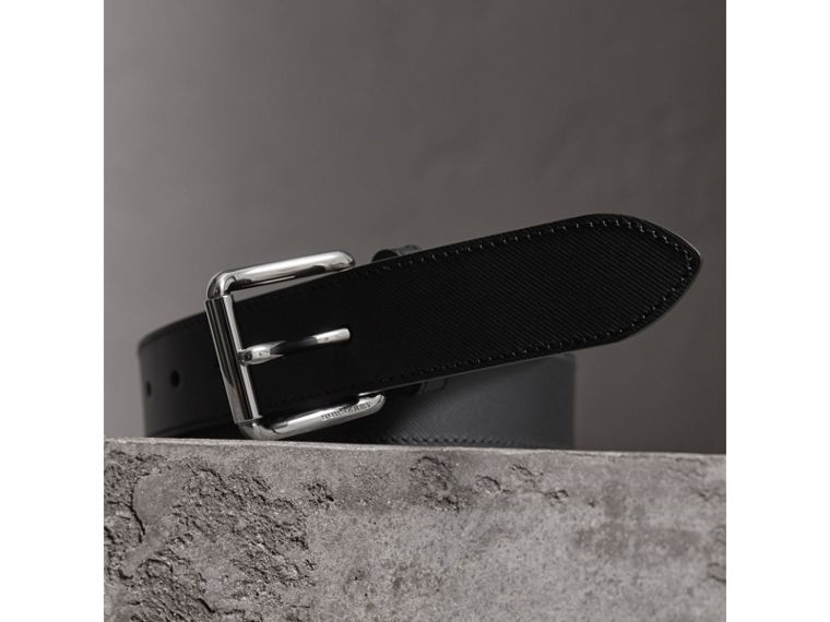 Trench Leather Belt in Black - Men | Burberry United Kingdom - cell image 1