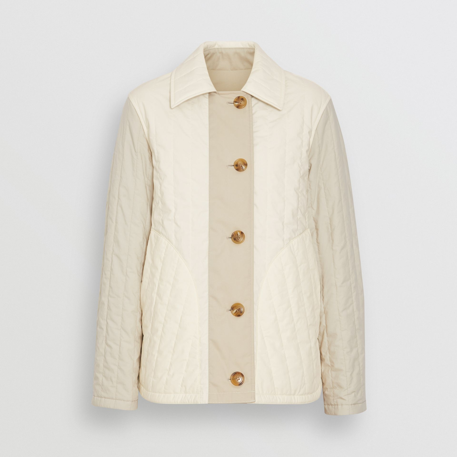 Reversible Quilted Cotton Jacket in Natural White - Women | Burberry - gallery image 3