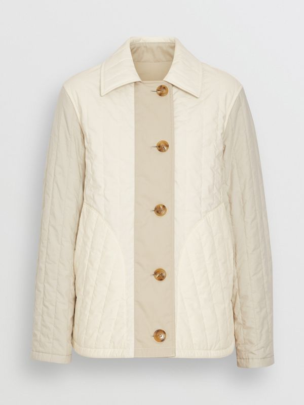 Reversible Quilted Cotton Jacket in Natural White - Women | Burberry - cell image 3