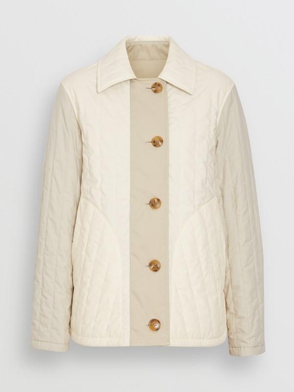 Giacca reversibile in cotone trapuntato (Bianco Naturale) - Donna | Burberry - cell image 3