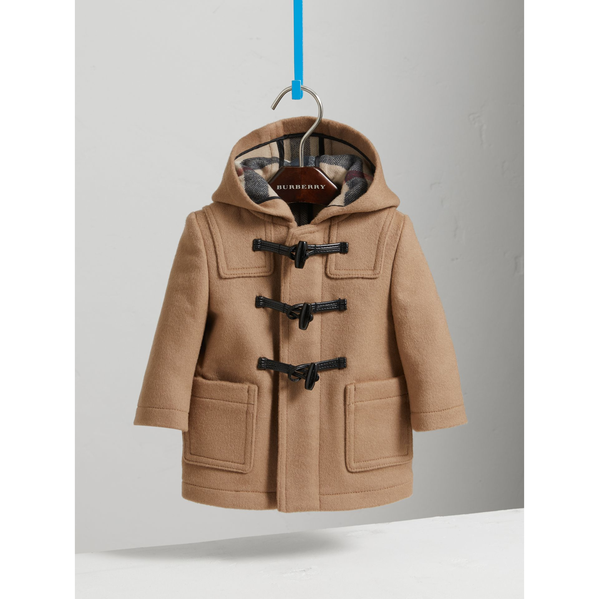 Wool Duffle Coat in New Camel | Burberry - gallery image 2