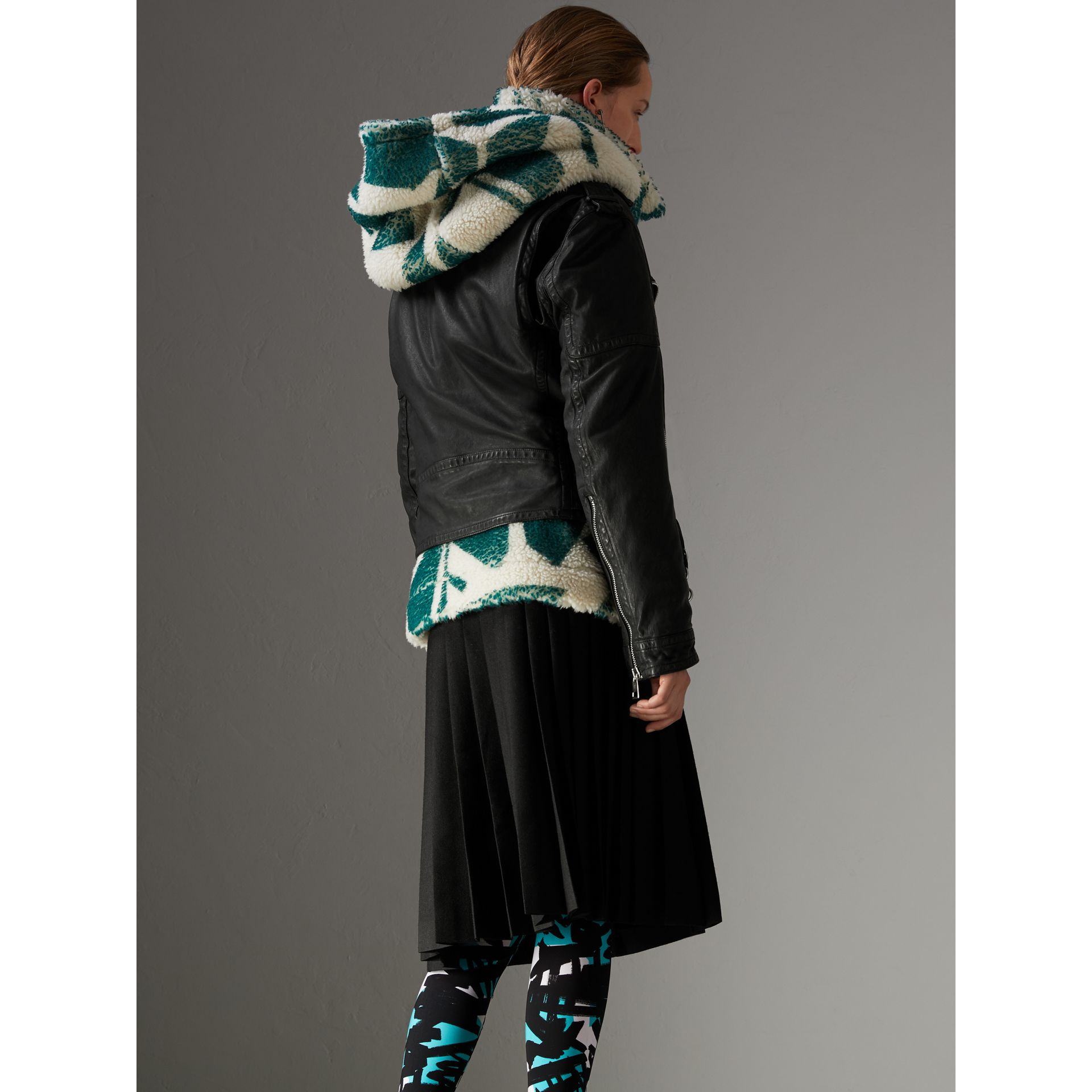 Graffiti Print Leggings in Turquoise - Women | Burberry - gallery image 2