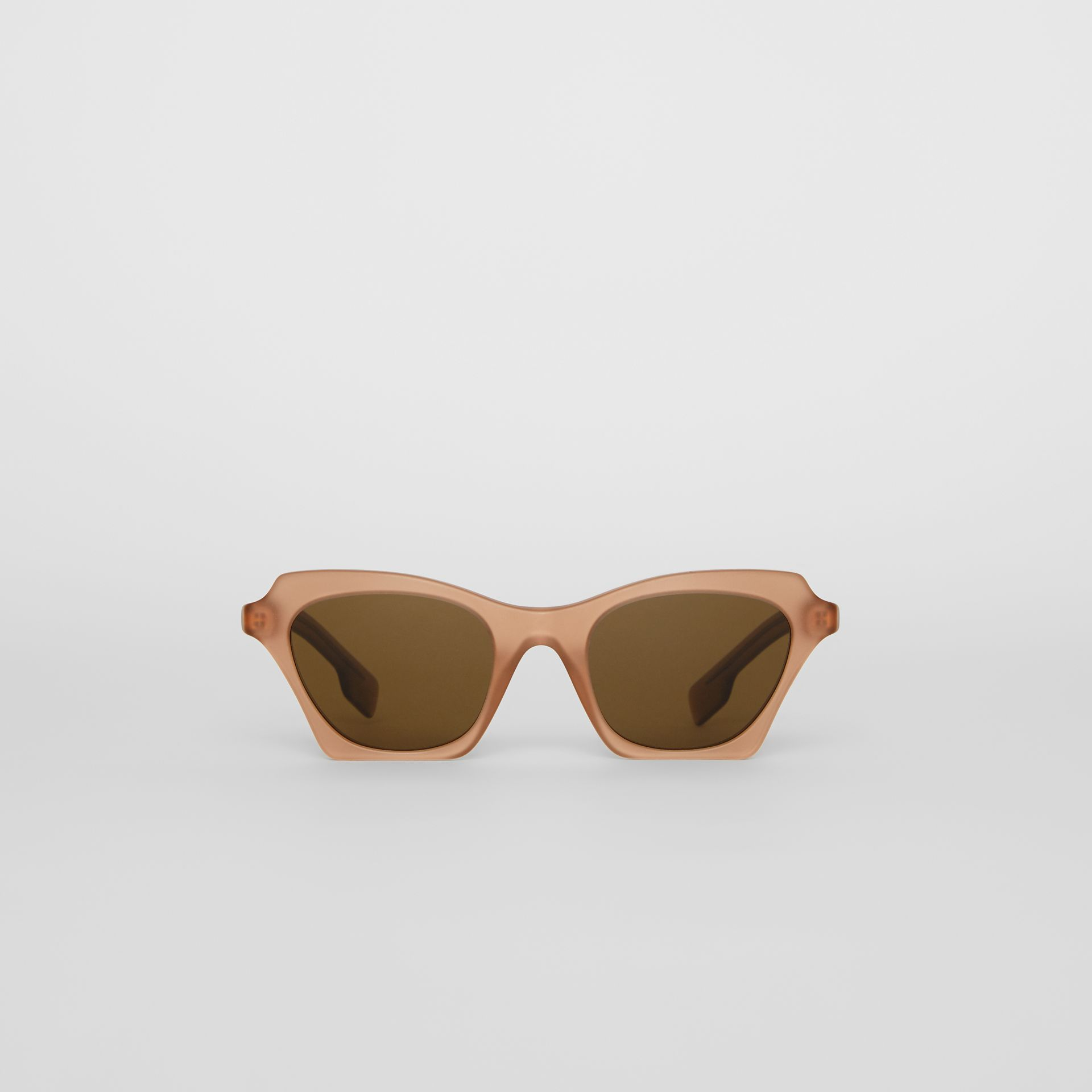 Butterfly Frame Sunglasses in Brown - Women | Burberry - gallery image 0