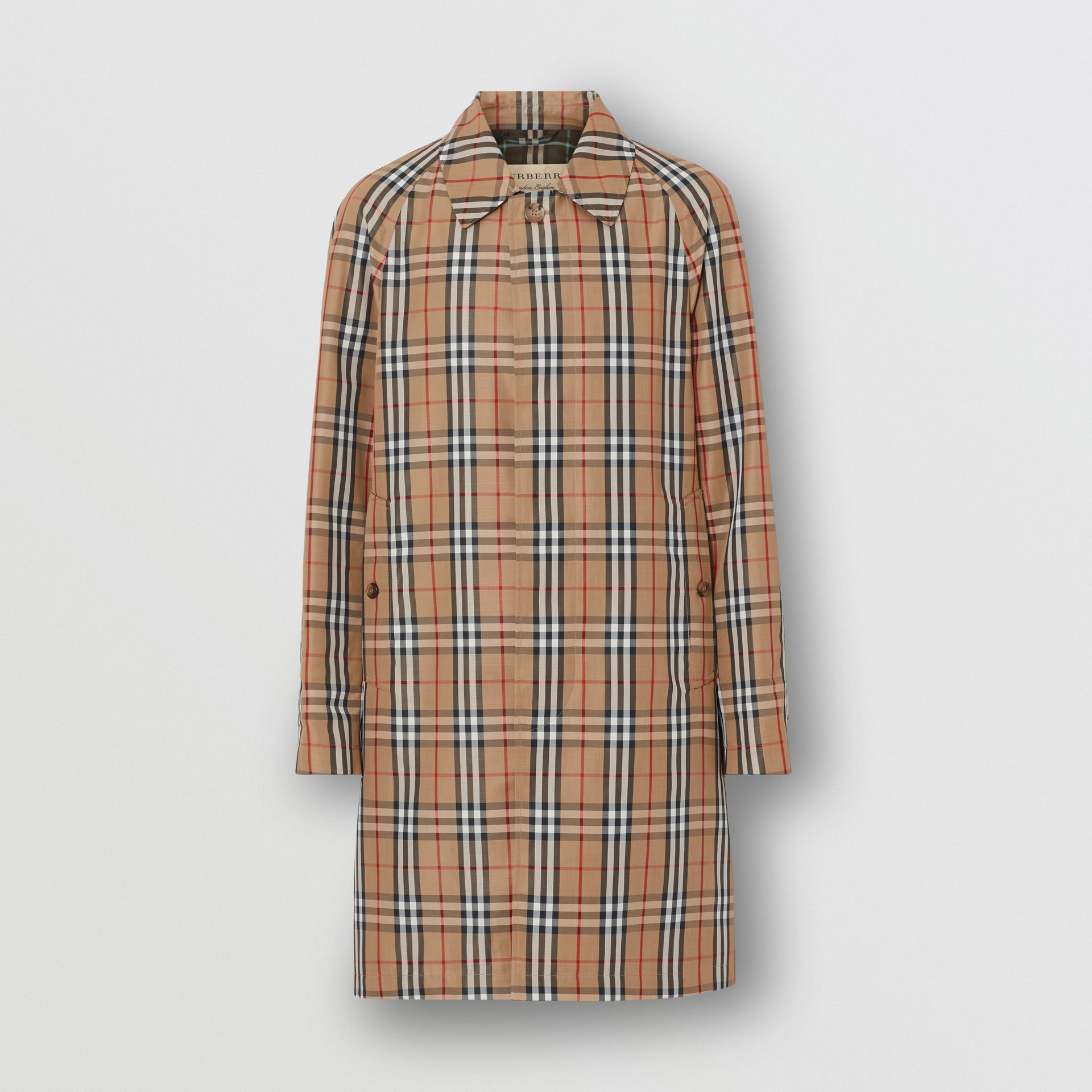 Vintage Check Car Coat in Archive Beige - Men | Burberry Australia - gallery image 3